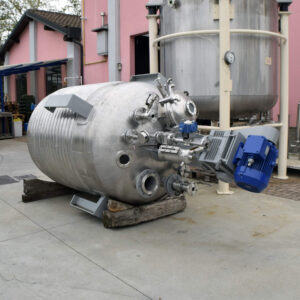 reattore acinoxa, collaudato, 3000 litri