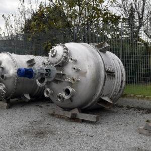 reattore completo di semitubo, 2800l